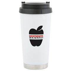 Black Apple Stainless Steel Travel Mug