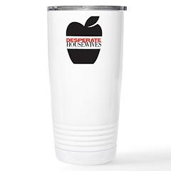 Black Apple Travel Mug