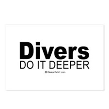 Divers do it deeper -  Postcards (Package of 8)