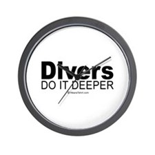 Divers do it deeper -  Wall Clock