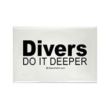Divers do it deeper - Rectangle Magnet