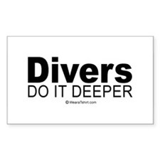 Divers do it deeper - Rectangle Decal