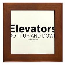 Elevators do it up and down - Framed Tile