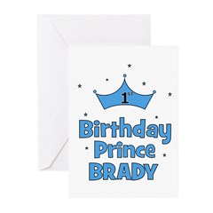 1st Birthday Prince BRADY! Greeting Cards (Pk of 1