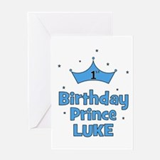 1st Birthday Prince LUKE! Greeting Card