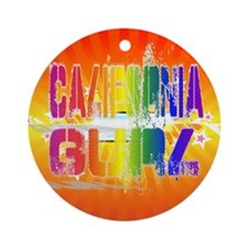 California Gurl Ornament (Round)