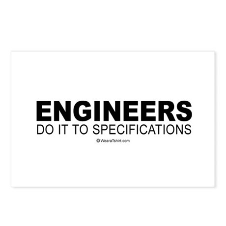 Engineers do it to specifications - Postcards (Pa