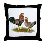 Russian Orloff Chickens Throw Pillow