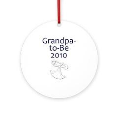 Grandpa-to-Be 2010 Ornament (Round)