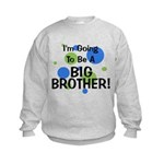 Going To Be Big Brother Kids Sweatshirt