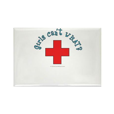 Red Cross Lifeguard Rectangle Magnet