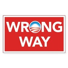 Wrong Way Decal