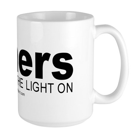 Miners do it with the light on - Large Mug