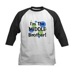 I'm The Middle Brother! Kids Baseball Jersey