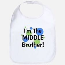 I'm The Middle Brother! Bib