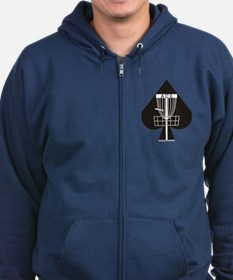 Disc Golf ACE Zip Hoodie (dark)