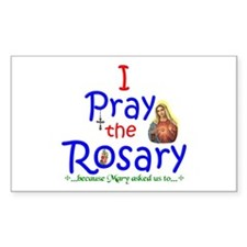 Pray the Rosary - Sticker (3x5 Rectangle) (a)