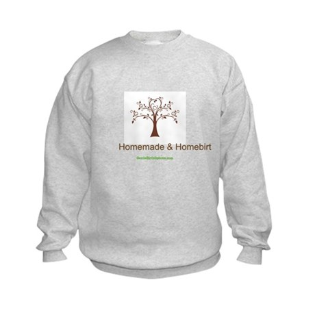 Homemade & Homebirthed Kids Sweatshirt