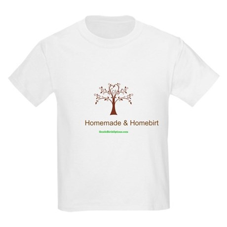 Homemade & Homebirthed Kids Light T-Shirt
