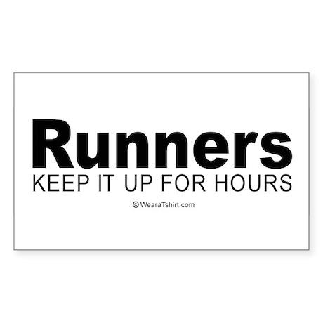 Runners do it for a long time - Sticker (Rectangu