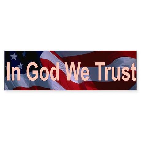 In God We Trust Sticker (Bumper)