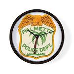 Palmetto Florida Police Wall Clock