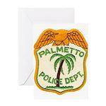 Palmetto Florida Police Greeting Card