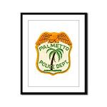 Palmetto Florida Police Framed Panel Print