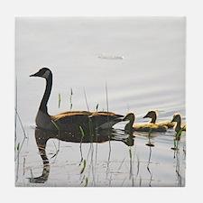 Goose Family Tile Coaster