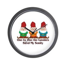 One by one the Gnomes steal my sanity Wall Clock