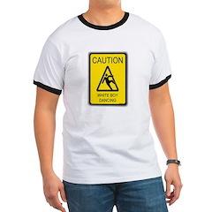 caution white boy dancing T