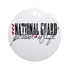 Ntl Guard - Proud Wife Ornament (Round)