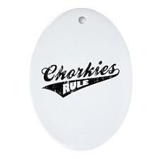 Chorkies Rule Ornament (Oval)