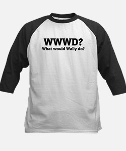 What would Wally do? Kids Baseball Jersey