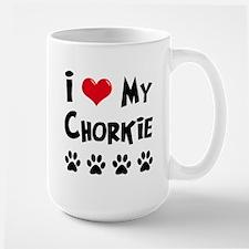 I Love My Chorkie Large Mug