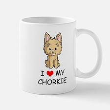 I Love My Chorkie Mug