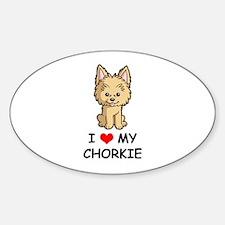 I Love My Chorkie Decal