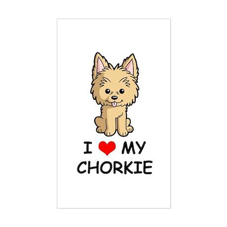 I Love My Chorkie Sticker (Rectangle)