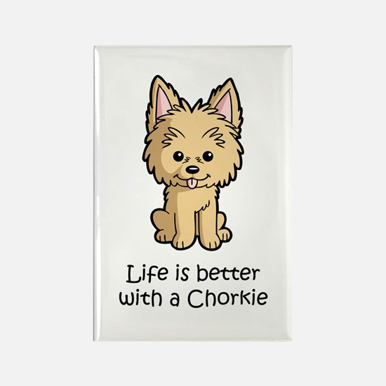 Life is better with a Chorkie Rectangle Magnet