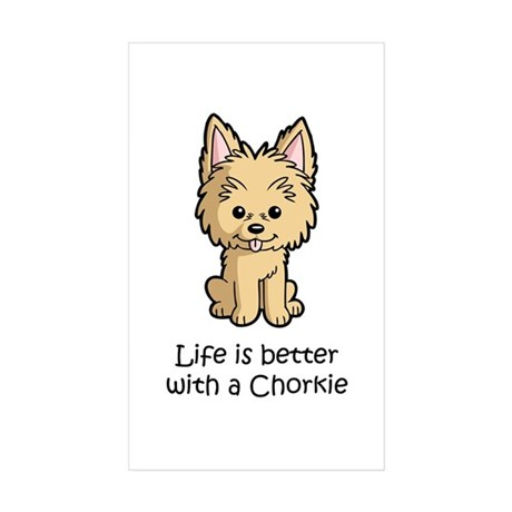 Life is better with a Chorkie Sticker (Rectangle 5