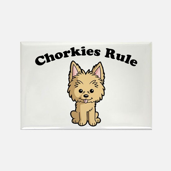 Chorkies Rule Rectangle Magnet