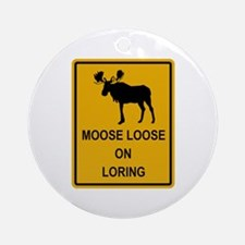 Moose Loose Ornament (Round)