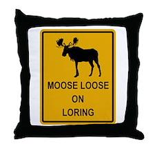 Moose Loose Throw Pillow