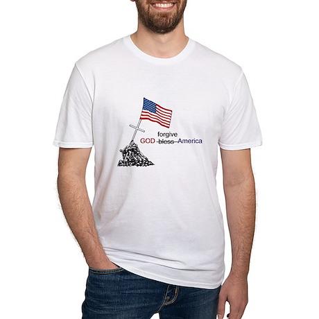 GOD forgive America Fitted T-Shirt