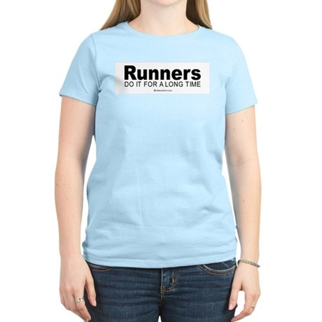 Runners keep it up for hours - Women's Pink T-Shi