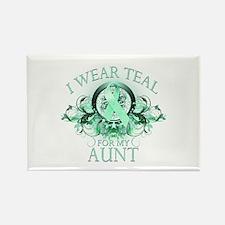 I Wear Teal for my Aunt (floral) Rectangle Magnet