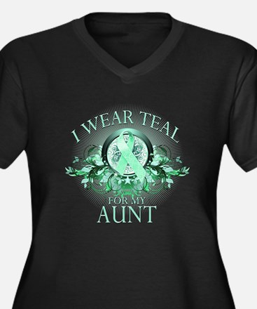 I Wear Teal for my Aunt (floral) Women's Plus Size