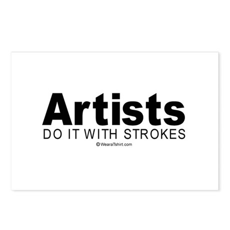 Artists do it with strokes - Postcards (Package o