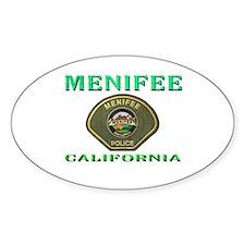 Menifee California Police Decal