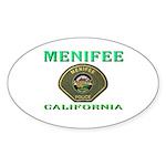 Menifee California Police Sticker (Oval 50 pk)